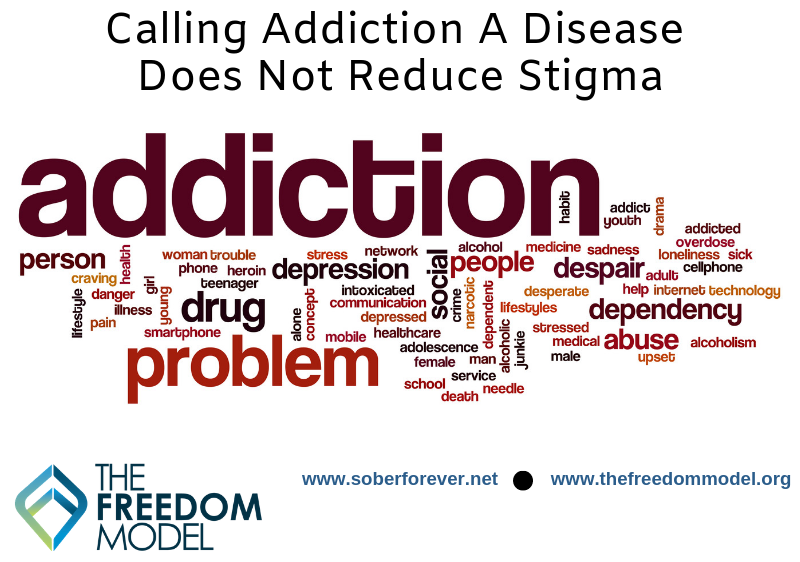 Calling Addiction a Disease Does Not Reduce Stigma