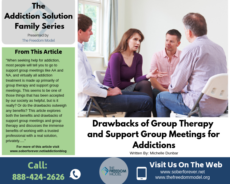All Addiction Help Should be Completely Private and Here's Why: Drawbacks of Group Therapy and Support Group Meetings for Addictions